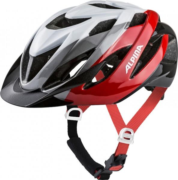 ALPINA Fahrradhelm LAVARDA, white-red-black